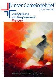 Gemeindebrief März 2013 bis Mai 2013 herunterladen - Ev ...