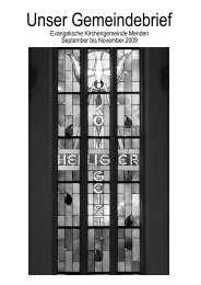 Unser Gemeindebrief - Ev. Kirchengemeinde Menden