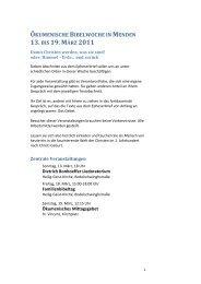 ökumenische bibelwoche in menden 13. bis 19. märz 2011 - Ev ...