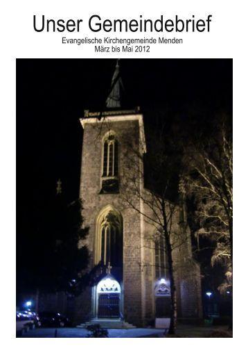 Gemeindebrief März bis Mai 2012 herunterladen - Ev ...