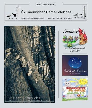 Ökumenischer Gemeindebrief - Evangelische Matthäusgemeinde ...
