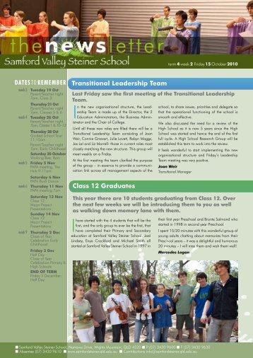 Newsletter Term 4 Week 2 - Samford Valley Steiner School