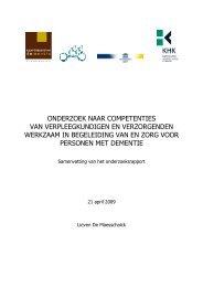 Onderzoeksrapport - Dementie.be
