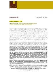 Persbericht - competenties in de zorg voor personen ... - Dementie.be