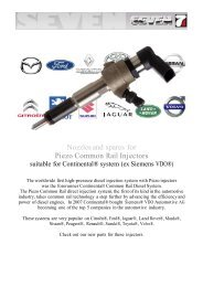 Nozzles and spares for Piezo Common Rail Injectors
