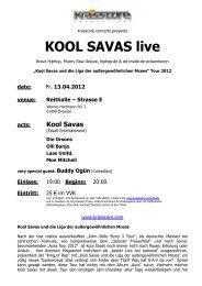 KOOL SAVAS live - Krasscore