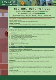 TWEHA Eternit Interior Adhesive Fastening - Fiber Cement Products
