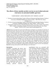 The effects of three months aerobic exercise on novel ... - Gjset.org