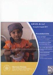 GRVD-Brief Ausgabe August 2011 - Rotary Club Erbach-Michelstadt