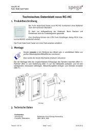 Technisches Datenblatt nova RC-HC - spega.de