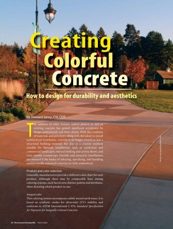 Creating Colorful Concrete - Butterfield Color