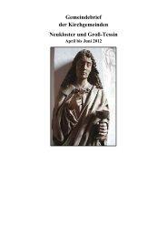 Gemeindebrief April bis Juni 2012 - Evangelische Kirchengemeinde ...