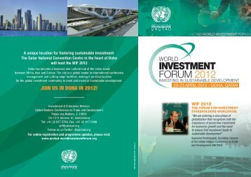 World Investment Forum (Flyer) - unctad xiii