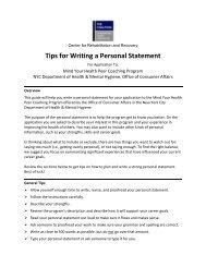 Center Writing Guide for Application Essay