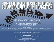 Riding the Roller Coaster of Change: Behavioral Health in Transition