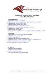 Dodatki dla serwerów source - poradnik (CSS ... - Moje-Serwery.pl