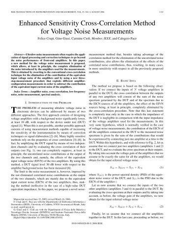 Enhanced Sensitivity Cross-Correlation Method for ... - IEEE Xplore