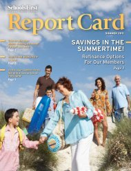 SavingS in the Summertime! - SchoolsFirst Federal Credit Union