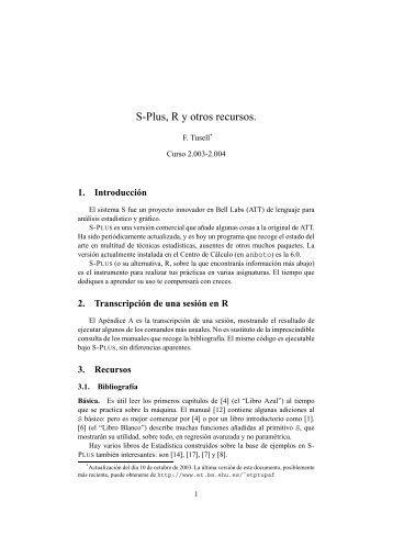 notas sobre S-Plus y R (PDF) - del Departamento de Economía ...