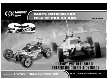 PARTS CATALOG FOR EB-4 S2 PRO SC CAR - Ruberkon