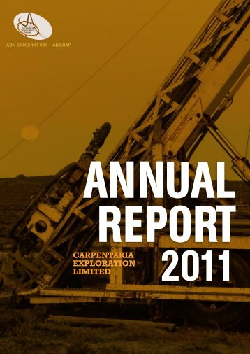CAP Financial Statements 30 June 2011.pdf - Carpentaria Exploration