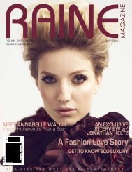 RAINE MAGAZINE Volume 9   Fashion & Style