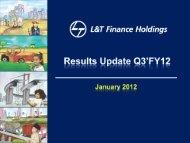 Investor Presentation Q3 FY 2012 - L&T Finance Holdings