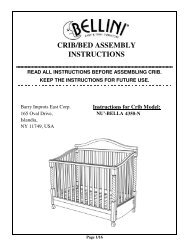 Crib Bed Assembly Instructions Bellini