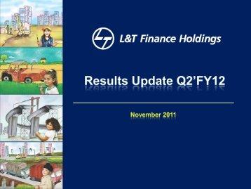 Investor Presentation Q2 FY 2012 - L&T Finance Holdings