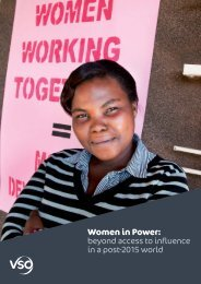 Women in Power: beyond access to influence in a post-2015 ... - VSO