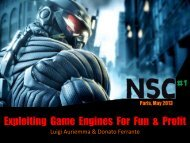 Exploiting Game Engines For Fun & Profit - ReVuln