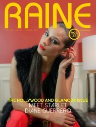 RAINE MAGAZINE Volume 23   Hollywood & Glamour Preview