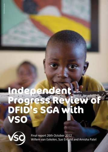 Independent Progress Review of DFID's SGA with VSO