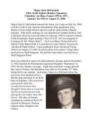 Major Jack McFarland, Pilot, 416th Fighter Bomber Squadron