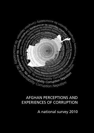 IWA corruption survey 2010 rz yt LD - Integrity Watch Afghanistan
