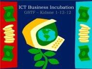ICT Business Incubation - ICTET