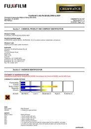 Chemwatch Australian MSDS 23-3157 - FUJIFILM Australia