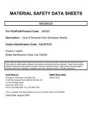 Color 6 Reversal Color Developer Starter - FUJIFILM Australia