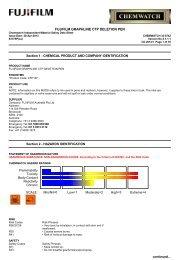 Chemwatch Australian MSDS 33-6742 - FUJIFILM Australia
