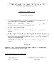 Statuto FIGC con le modifiche richieste dalla FIFA ... - Diritto Calcistico