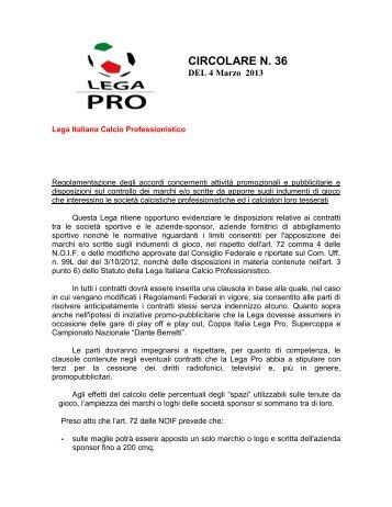 LP - Regolamento accordi attività promozionali e ... - Diritto Calcistico