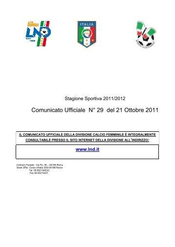 Regolamento Campionato Nazionale Primavera ... - Diritto Calcistico