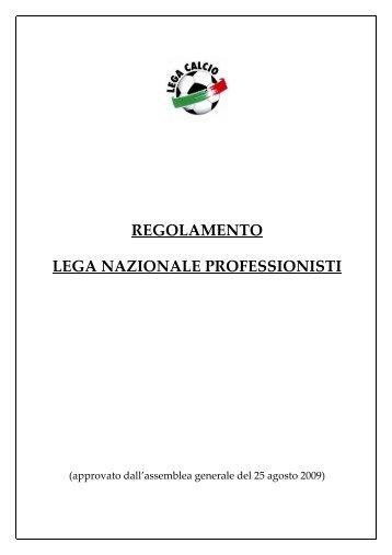 Regolamento LNP - Diritto Calcistico