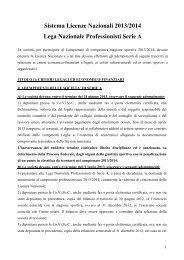 Sistema Licenze Nazionali 2013/2014 Lega Nazionale ... - Figc