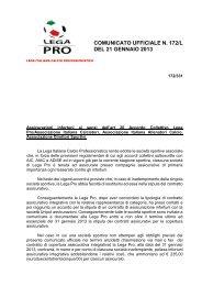 Assicurazione infortuni 12-13 - Diritto Calcistico
