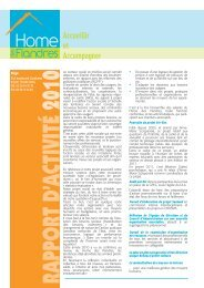 Bilan d'activité 2010 - Le Home des Flandres