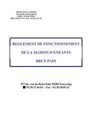 Règlement de fonctionnement Brun-Pain - Le Home des Flandres