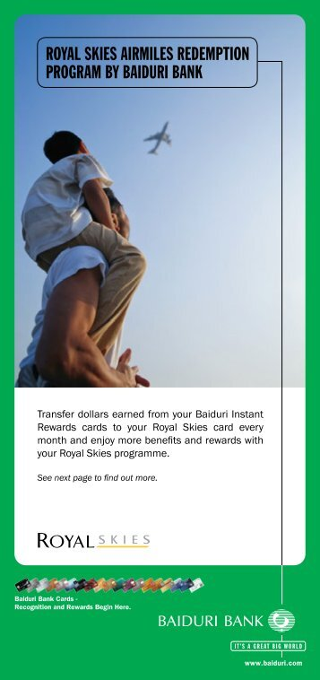 Royal Skies Miles Redemption Program - Baiduri Bank