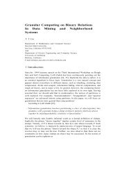 Granular Computing on Binary Relations In Data Mining and ...