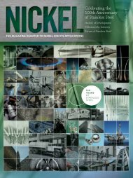 Download Nickel magazine covering the 100years of stainless steel